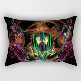 Art Deco Birds of Paradise Rectangular Pillow