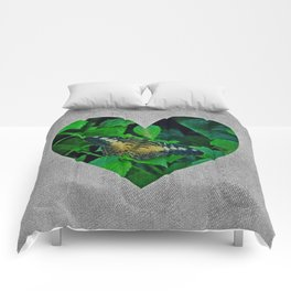 butterfly heart Comforters