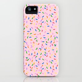 Strawberry frosted sprinkles iPhone Case