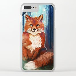 Fox - Forrest - Cute Clear iPhone Case