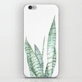 Watercolor botanical print iPhone Skin