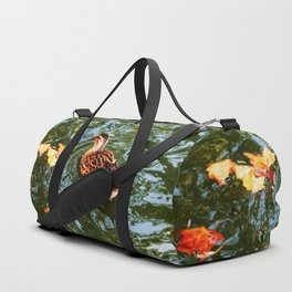 Duck in autumn Duffle Bag
