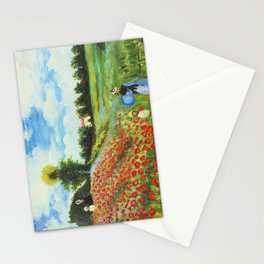 Claude Monet - Poppy Field at Argenteuil Stationery Cards
