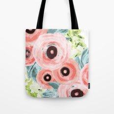 Ranunculus, Hydrangeas, Succulents Tote Bag