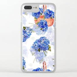 Cape Cod Hydrangeas and Baskets Clear iPhone Case