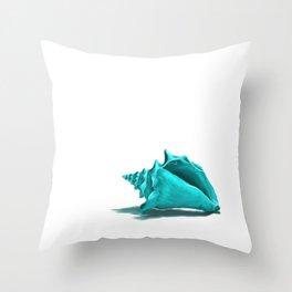 Aura the Seashell - illustration Throw Pillow