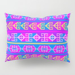 Colorful Mexican Aztec geometric pattern Pillow Sham