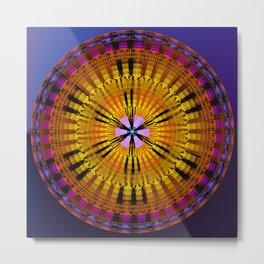 Abstract patterns mandala Metal Print