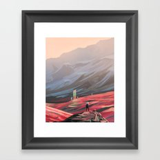 Alien Monolith Framed Art Print