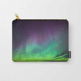 Northern lights over lake in Finland Carry-All Pouch