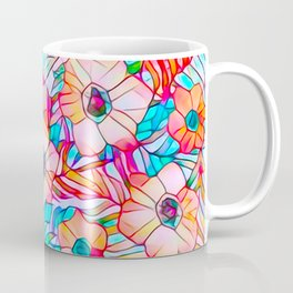 Stained Glass Poppies Coffee Mug