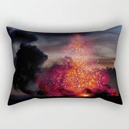 Kilauea Volcano at Kalapana 3a1 Rectangular Pillow