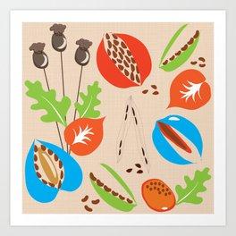 Seed Pods Art Print