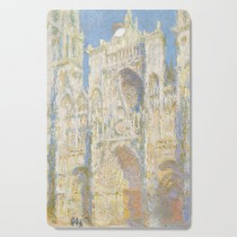 Claude Monet - Rouen Cathedral, West Façade, Sunlight Cutting Board