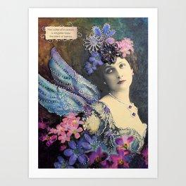 Shining Flower Fairy Art Print