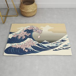 The Great Wave of Pigs Rug