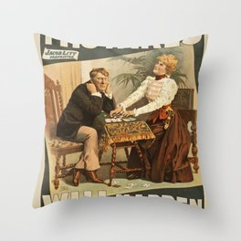 Vintage poster - Mistakes Will Happen Throw Pillow