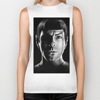 spock Biker Tanks featuring Spock by Sarah Riebe