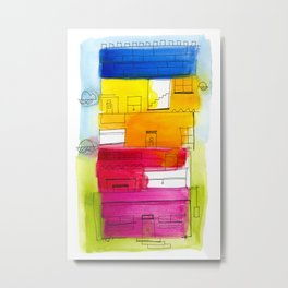 Rainbow High Rise Metal Print