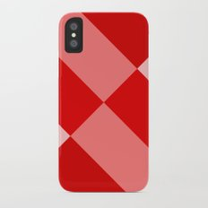 Angled Red Gradient iPhone X Slim Case