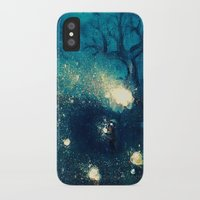 fireflies iPhone & iPod Cases featuring Fireflies by Morgan Ofsharick - meoillustration