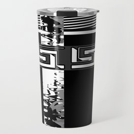Creative Black and white pattern . The braided belts . Travel Mug