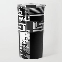 Creative Black and white pattern . The braided belts . Travel Mug