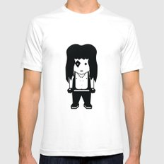 KISS Fan Mens Fitted Tee White SMALL