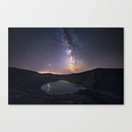(RR 294) Milky Way above Lough Tay - Ire Canvas Print