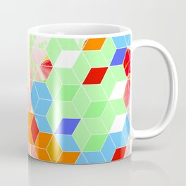 Pop Floral Cube Pattern 2  #fashion #pattern #lifestyle Coffee Mug