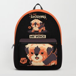 My Voice // Yorkshire Terrier, Barking Puppy, Kawaii Pets Backpack
