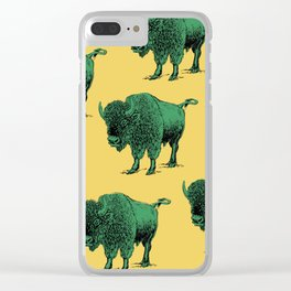 bison pattern Clear iPhone Case