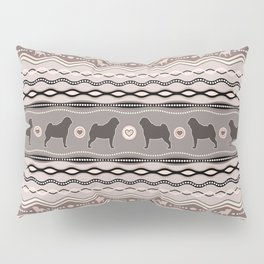 Pug - Decorative Pattern in pastels Pillow Sham