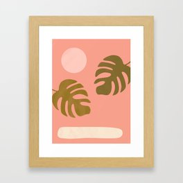 abstract tropical 1 Framed Art Print