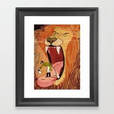 Lion Tamer Blues Framed Art Print