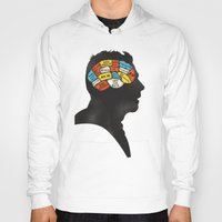 shaun of the dead Hoodies featuring Shaun Phrenology by Wharton