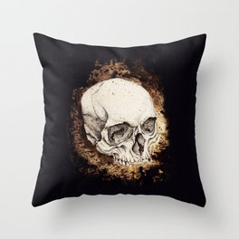 Skull Study No.6 (aka - Barrie) Throw Pillow