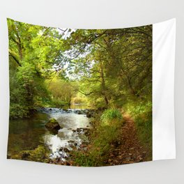 Millers Dale River Walk Wall Tapestry