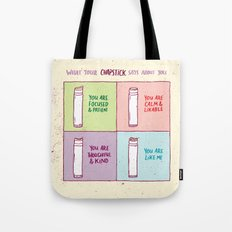 What Your Chapstick Says About You Tote Bag