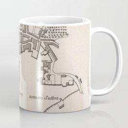 Vintage Map of Plymouth England (1764) Coffee Mug