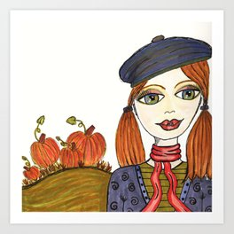 Pumpkin Patch Penny Art Print