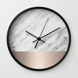 Carrara Italian Marble Holiday White Gold Edition Wall Clock