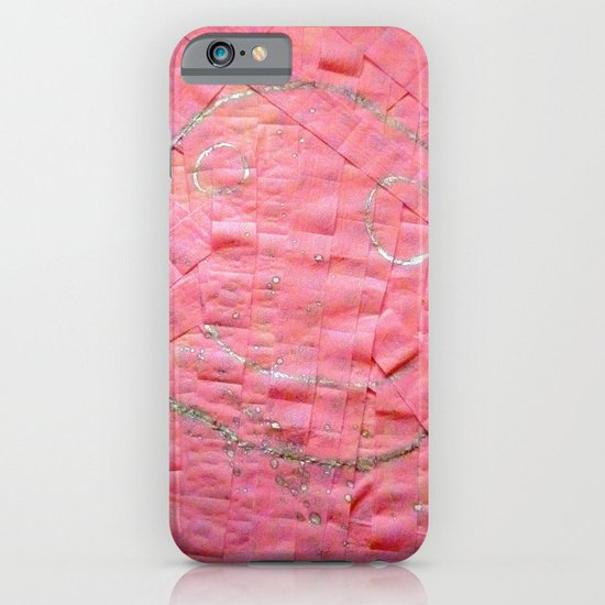 Smile on a pink toilet paper iPhone & iPod Case