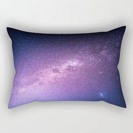 Purple Glitter Galaxy Rectangular Pillow