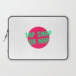 Tap Snap or Nap Black Belt Martial Arts BJJ MMA Lover Laptop Sleeve
