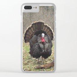 Turkey Strut with Hen Clear iPhone Case
