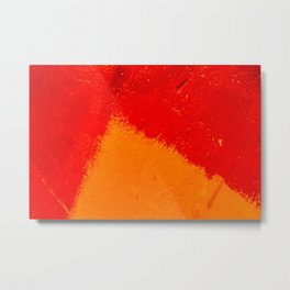 Abstract Orange Triangle Metal Print