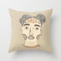 fka twigs Throw Pillows featuring FKA Twigs by Kai Jen.