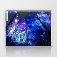 black trees purple blue space Laptop & iPad Skin