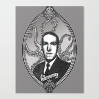 lovecraft Canvas Prints featuring H.P. Lovecraft by Studio Nil